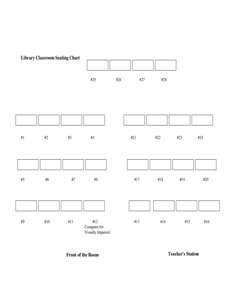 Classroom seating chart template word 2