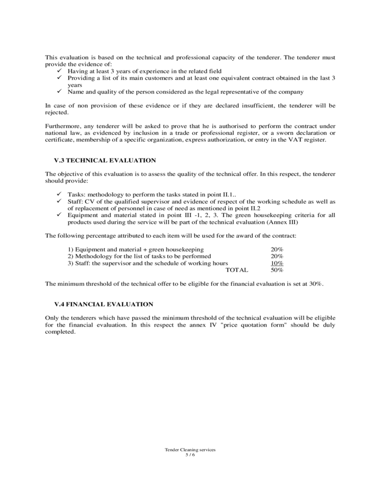 Cleaning Service Contract - European Union