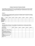 Cottage and Apartment Cleaning Schedule Free Download