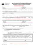 Application for Tax Clearance - New Jersey Free Download