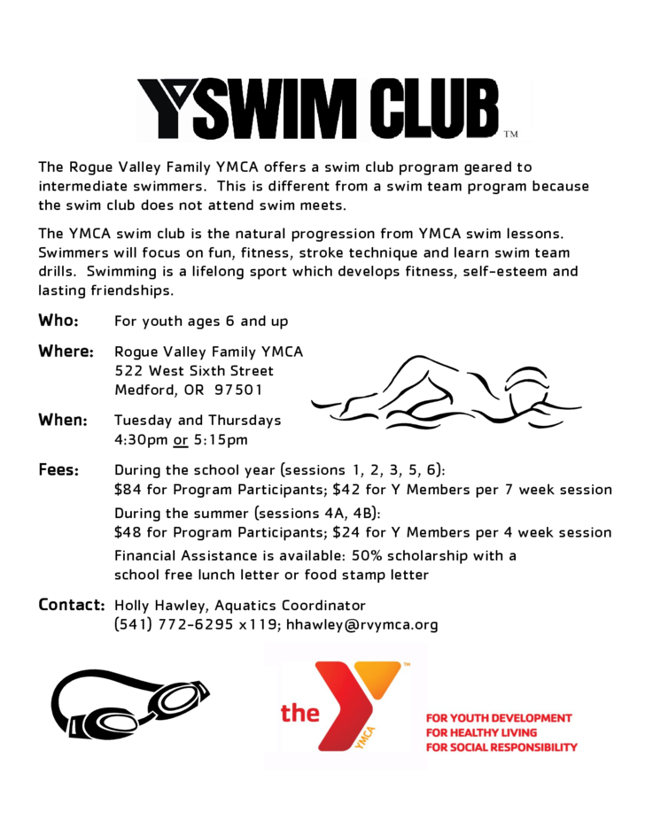 Sample Swim Club Flyer Free Download