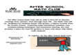 After School Math Club Flyer