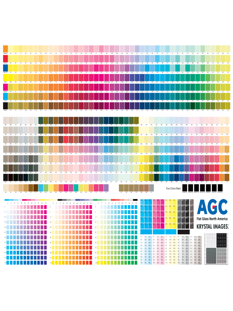 cmyk color chart template