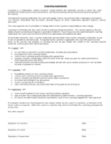 Coaching Contract Template - University of Sydney Free Download