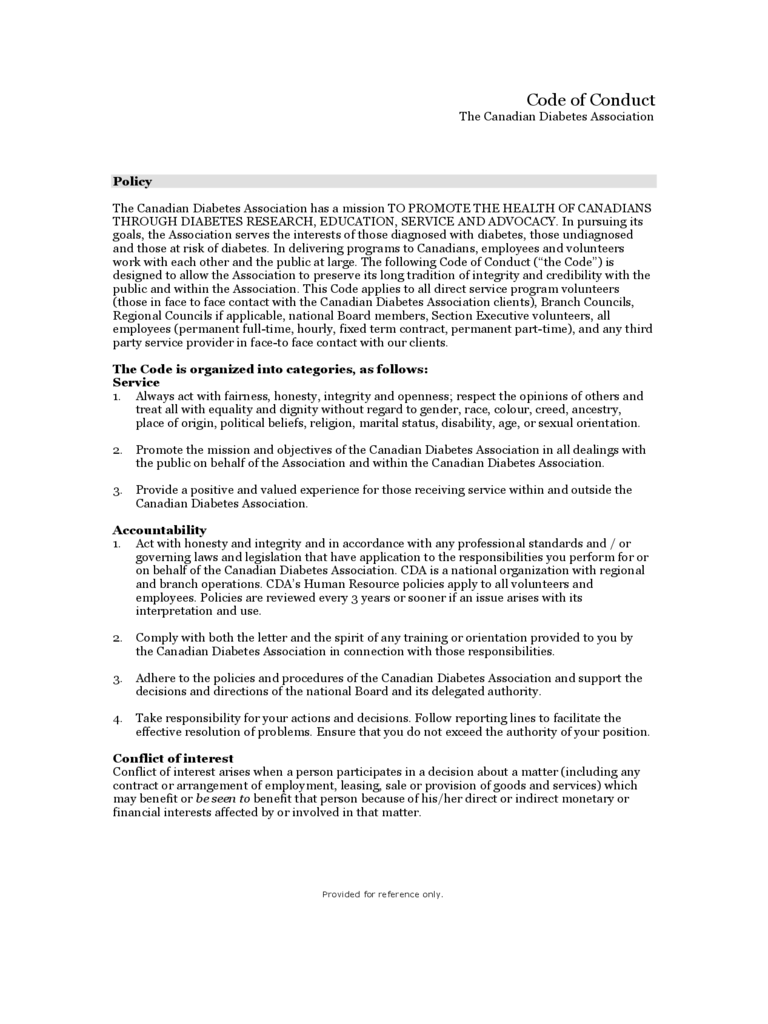 woolworths code of conduct pdf