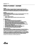 Sample Code of Conduct Example Free Download