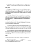 Model Cohabitation Agreement for Domestic Partners - South California Free Download