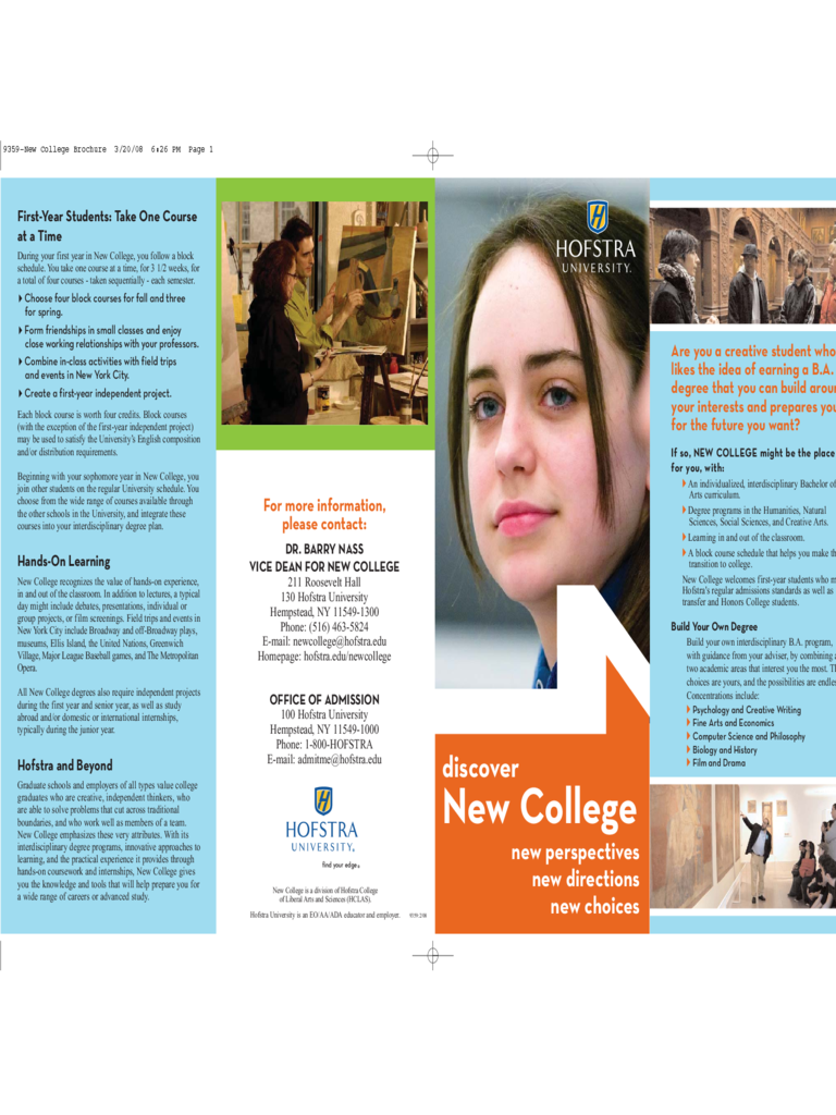 College brochure template 3 free templates in pdf word for College brochure design pdf