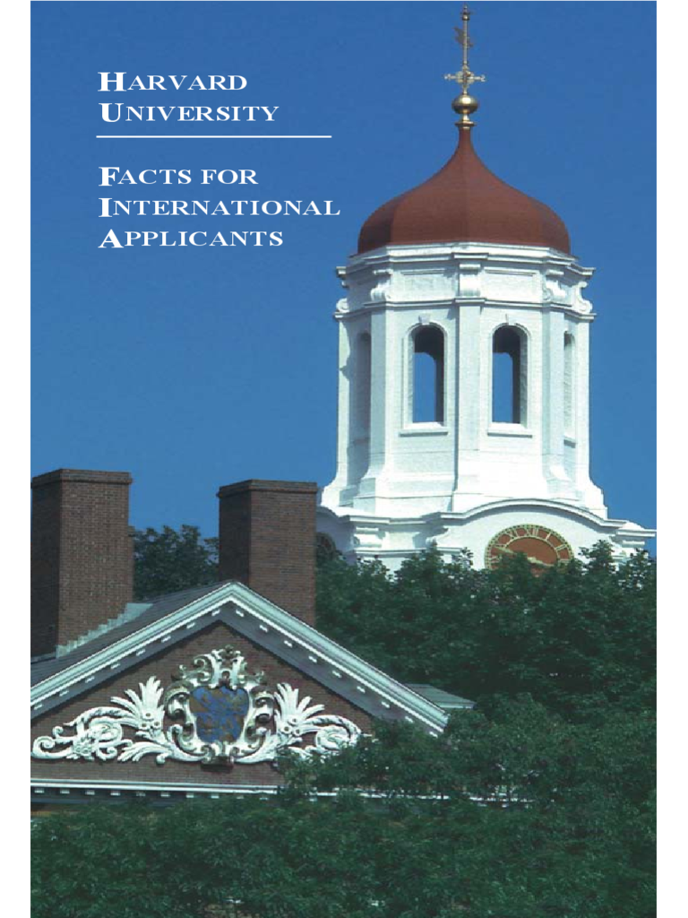 College Brochure - Harvard University