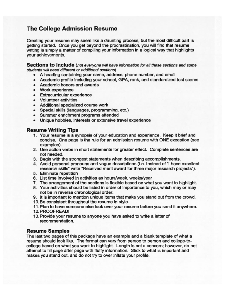College Resume Template 5 Free Templates In Pdf Word