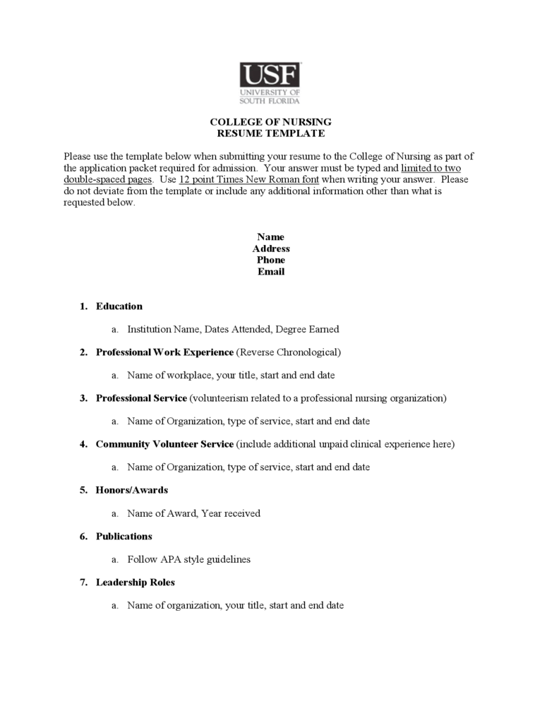 college sample resume free download