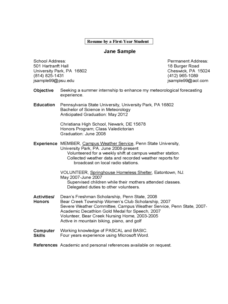 download sample resume format - Gidiye.redformapolitica.co