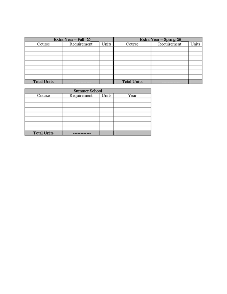 Four-Year Plan Template