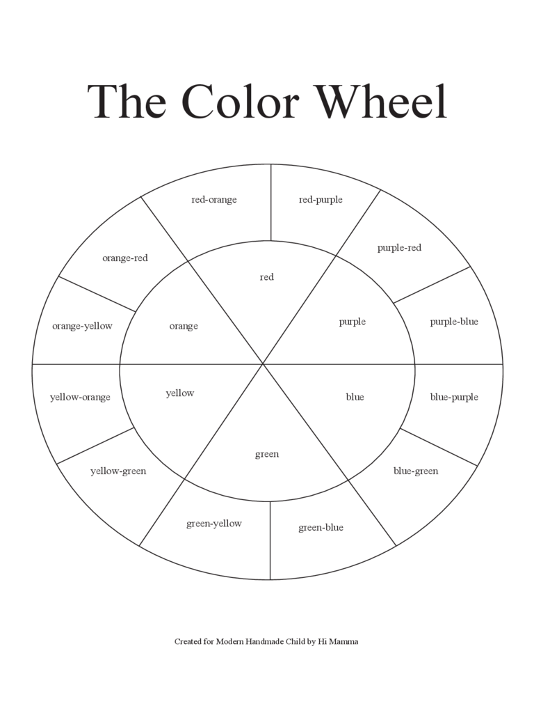 Color Wheel Chart Template 3 Free Templates In Pdf Word