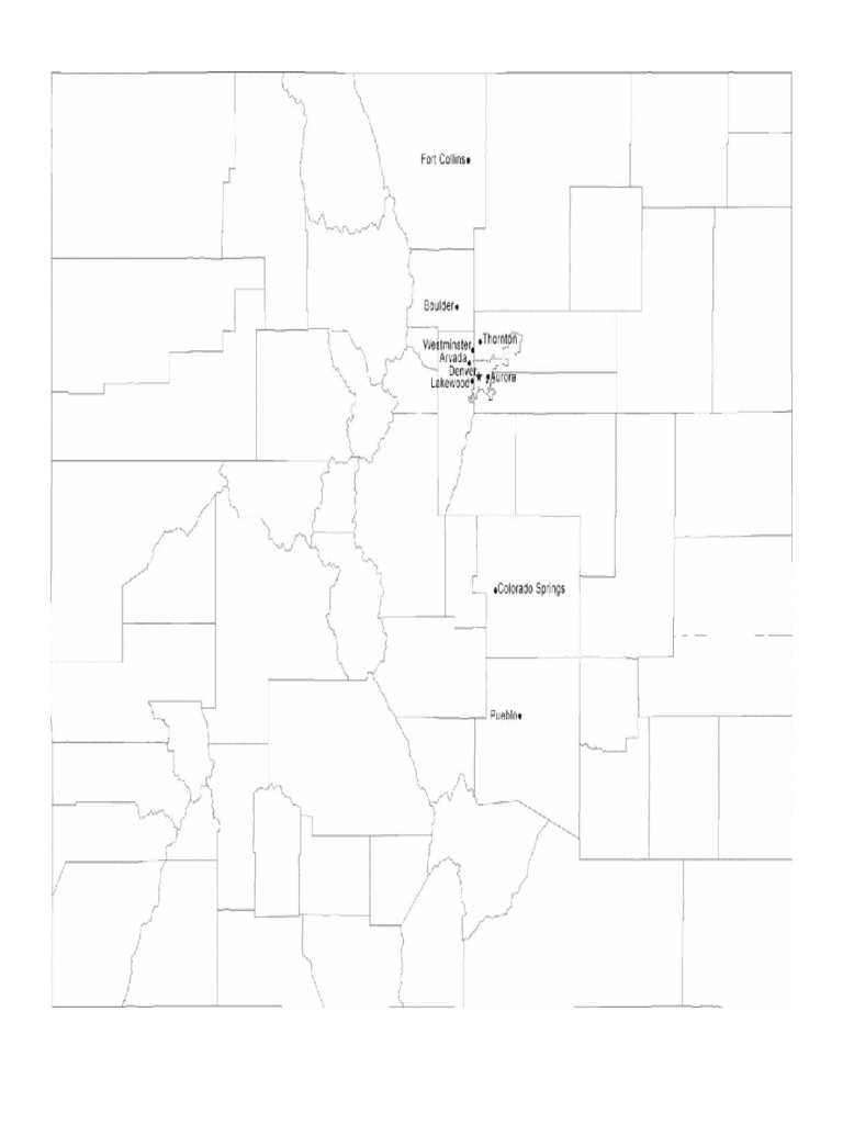 Map of Colorado Cities with City Names