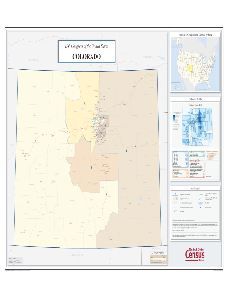 Colorado Congressional District Map Free Download