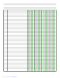 Columnar Paper with Four Columns on A4-Sized Paper in Portrait Orientation