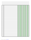 Columnar Paper with Three Columns on A4-Sized Paper in Portrait Orientation