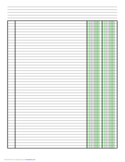 Columnar Paper with Two Columns on A4-Sized Paper in Portrait Orientation