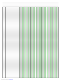 Columnar Paper with Seven Columns on Ledger-Sized Paper in Portrait Orientation