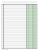Columnar Paper with Three Columns on Ledger-Sized Paper in Portrait Orientation