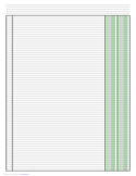 Columnar Paper with Two Columns on Ledger-Sized Paper in Portrait Orientation