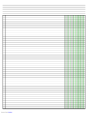Columnar Paper with Four Columns on Ledger-Sized Paper in Landscape Orientation