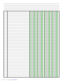 Columnar Paper with Four Columns on Letter-Sized Paper in Portrait Orientation
