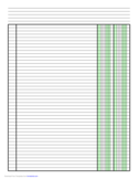 Columnar Paper with Two Columns on Letter-Sized Paper in Portrait Orientation