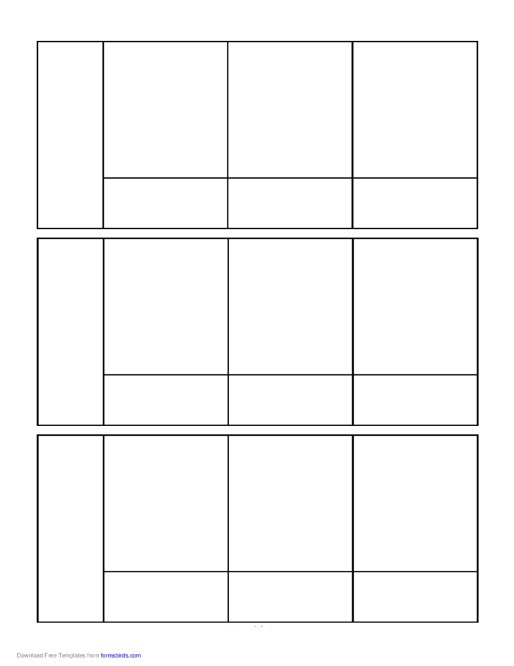 Blank comic book layout template