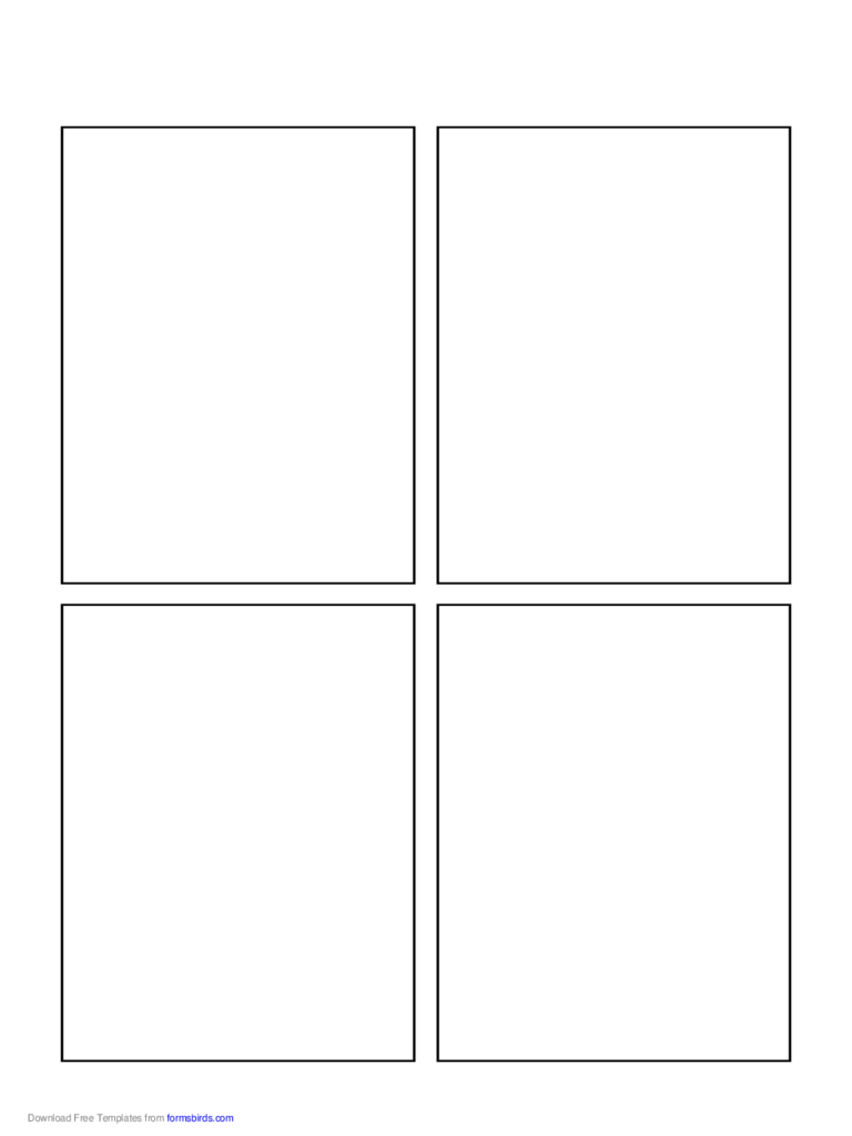 Blank Comic Book Page