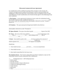 Wisconsin Commercial Lease Agreement