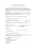 Wyoming Commercial Lease Agreement