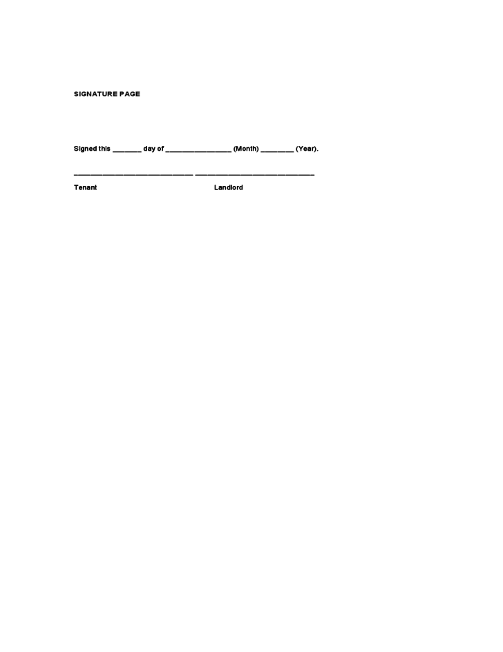 Georgia Commercial Lease Agreement Form Free Download