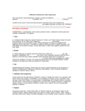 California Commercial Lease Agreement