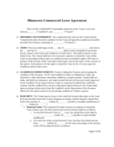Minnesota Commercial Lease Agreement Template