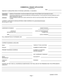 Commercial Tenant Application Form Free Download