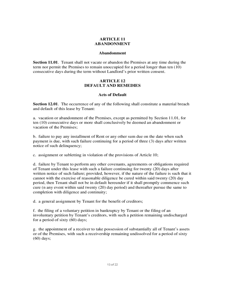 13 Sample Commercial Lease Agreement