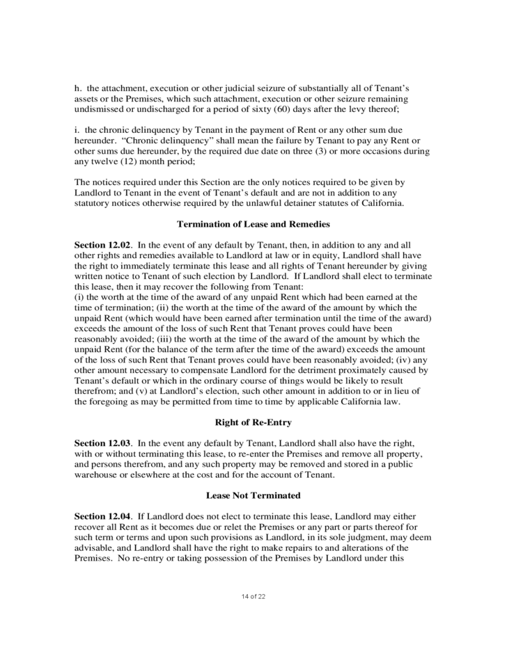 14 Sample Commercial Lease Agreement