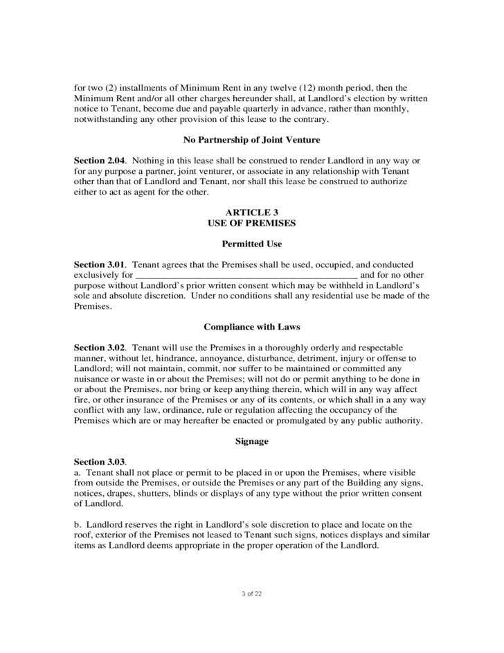 3 sample commercial lease agreement. Resume Example. Resume CV Cover Letter