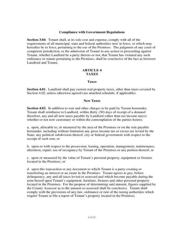 Sample Mercial Lease Agreement Free Download