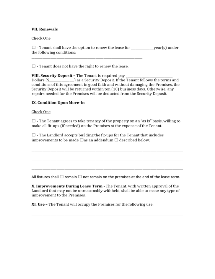 Mississippi Commercial Lease Agreement Free Download