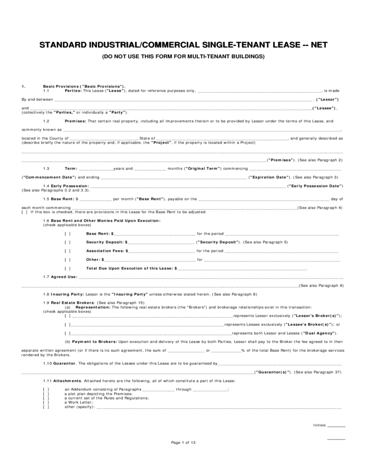 Standard Arizona Commercial Lease Agreement Free Download
