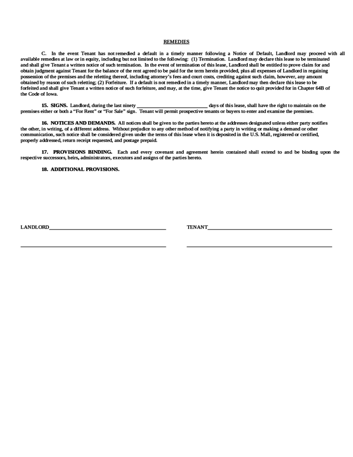 commercial business form