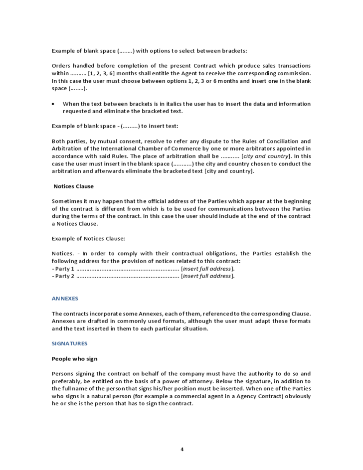 International Sales Mission Agreement Free Download