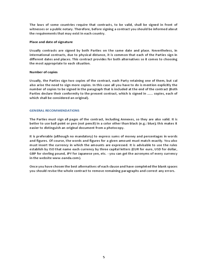 Mission Based Employment Contract Template Real Estate