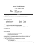 Committee Meeting Minutes - Michigan Free Download