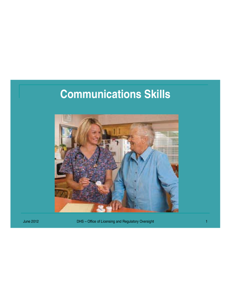 Communication Skills Slides - Oregon