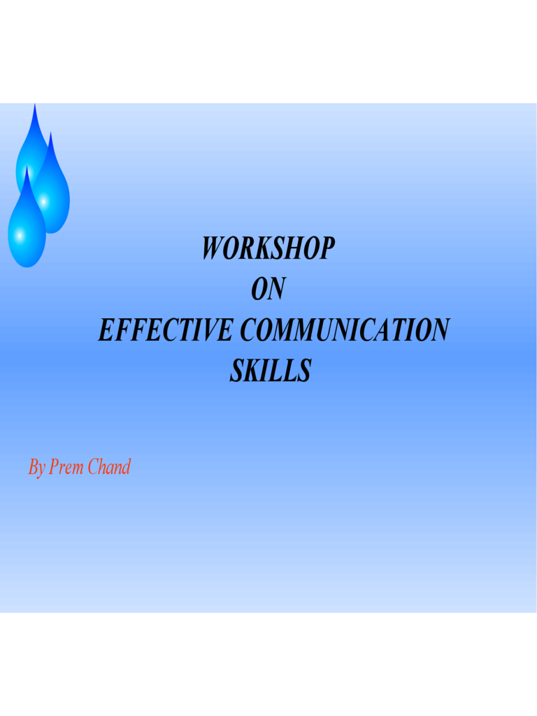 Sample Communication Skills PPT