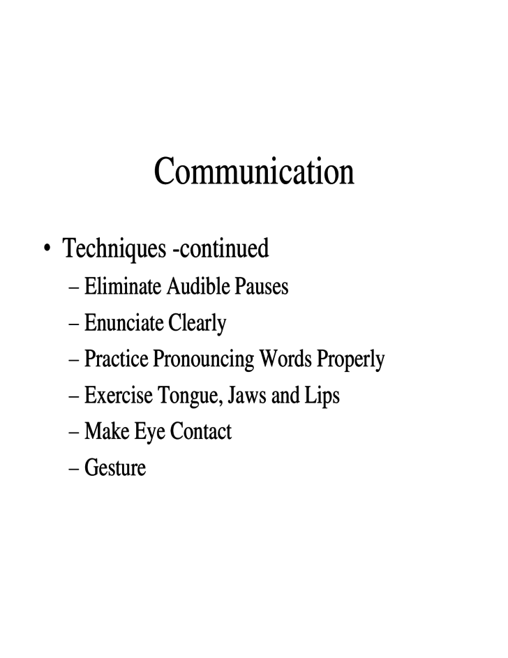 Sample Slides for Improving Your Communication Skills